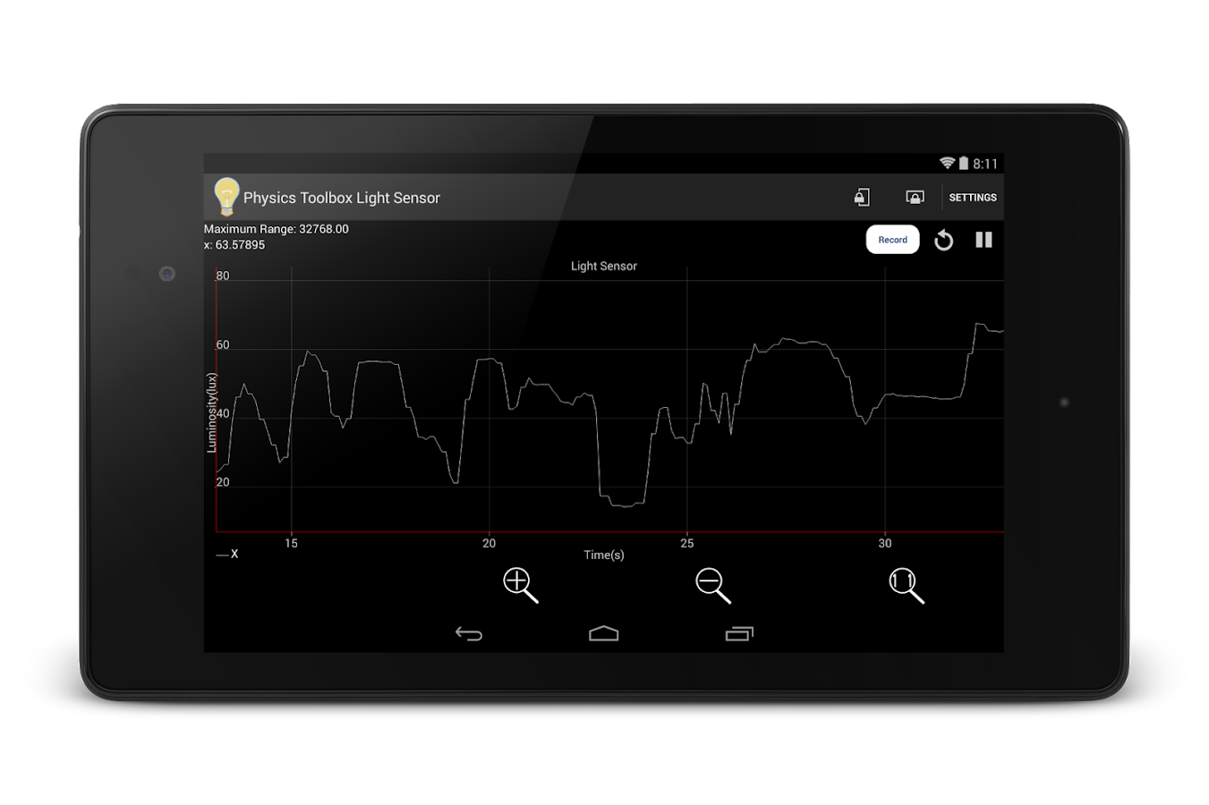 Physics Toolbox Light Sensor - screenshot