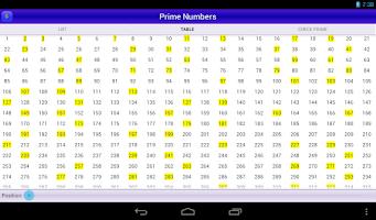 Screenshot of Prime Numbers