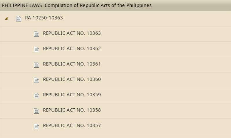 Philippine Laws - Vol. 4- screenshot