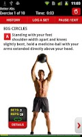 Screenshot of Men's Health Workouts