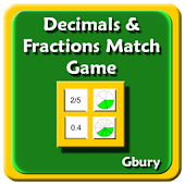 Math Decimals & Fractions Game