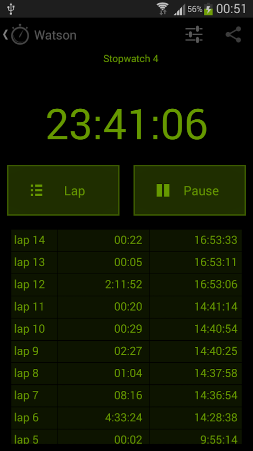 Watson Stopwatches and Timers- screenshot