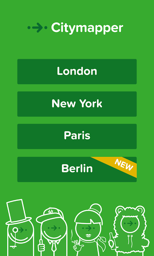 Citymapper- London,NYC,PAR,BER - screenshot
