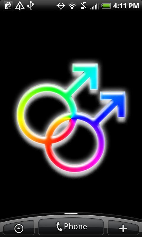 Pride Rainbow Live Wallpaper- screenshot