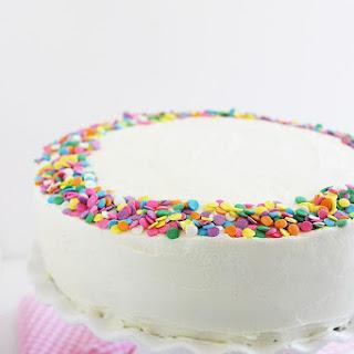Yellow Birthday Cake With Vanilla Frosting Recipe