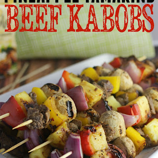 Pineapple Tamarind Beef Kabobs.