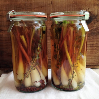 French-Inspired Pickled Ramps