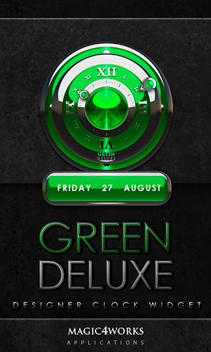Green Deluxe Clock Widget