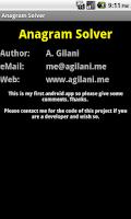 Screenshot of Anagram Solver