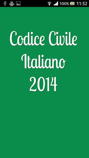 Codice Civile Italiano 2014