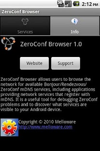 ZeroConf Browser- screenshot thumbnail