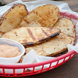 Grilled Potatoes with BBQ Dipping Sauce.