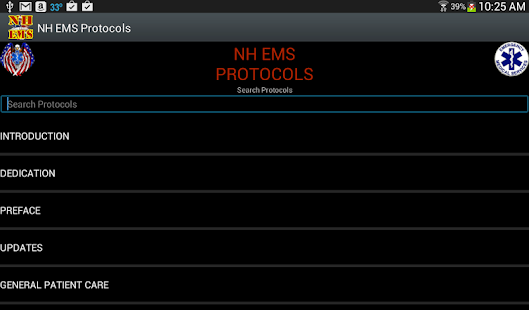 NH EMS Protocols - screenshot thumbnail