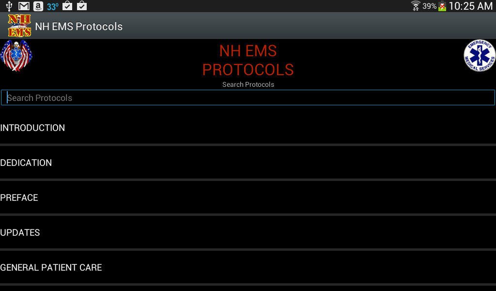 NH EMS Protocols - screenshot