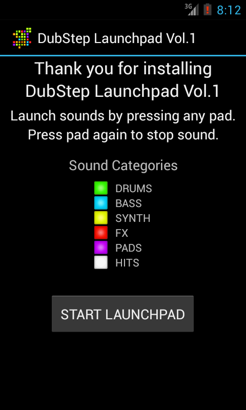 Dubstep Launchpad 1 Free - screenshot