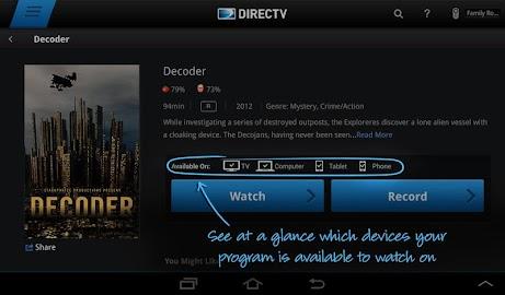 DIRECTV for Tablets Screenshot 17