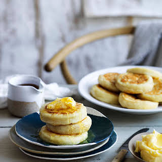Crumpets With Homemade Honey Butter.