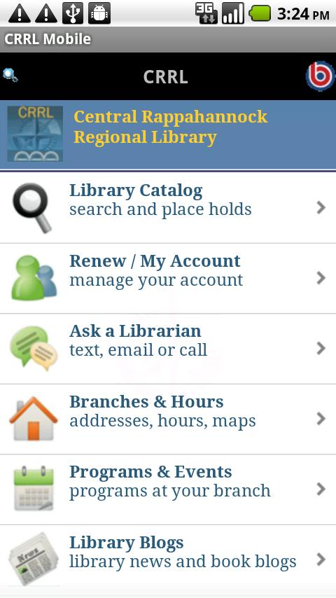 CRRL Mobile- screenshot