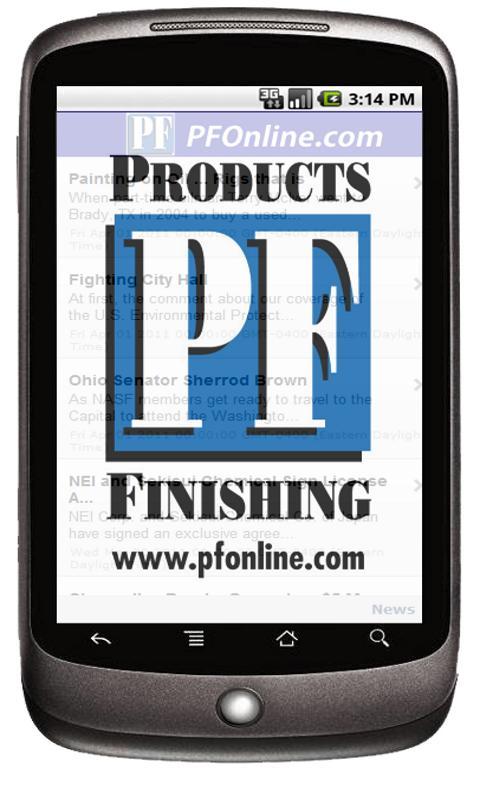 Products Finishing Magazine - screenshot