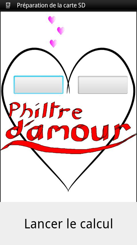 Philtre d'amour (love test) - screenshot