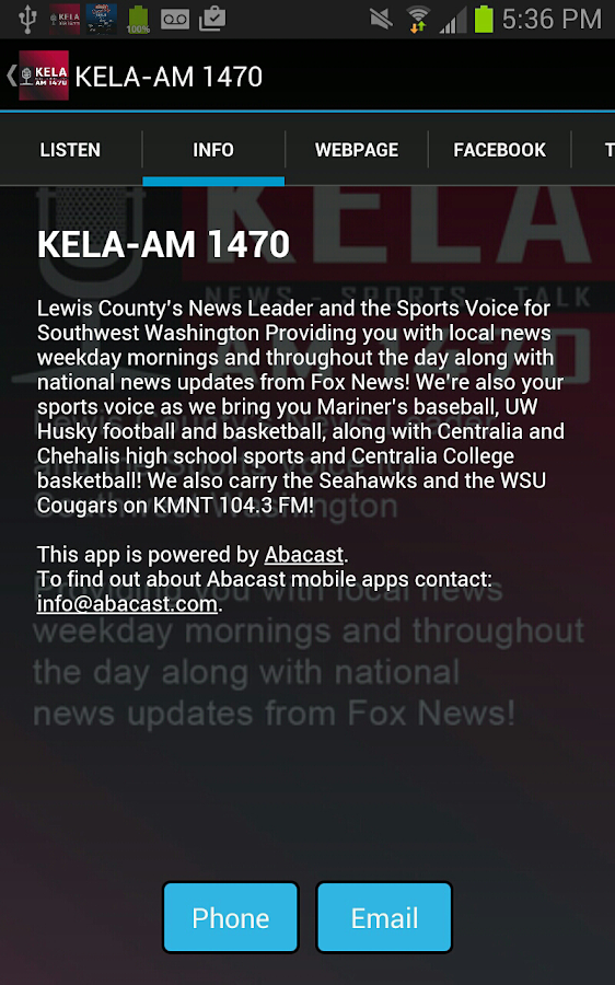KELA-AM News/Talk/Sports- screenshot