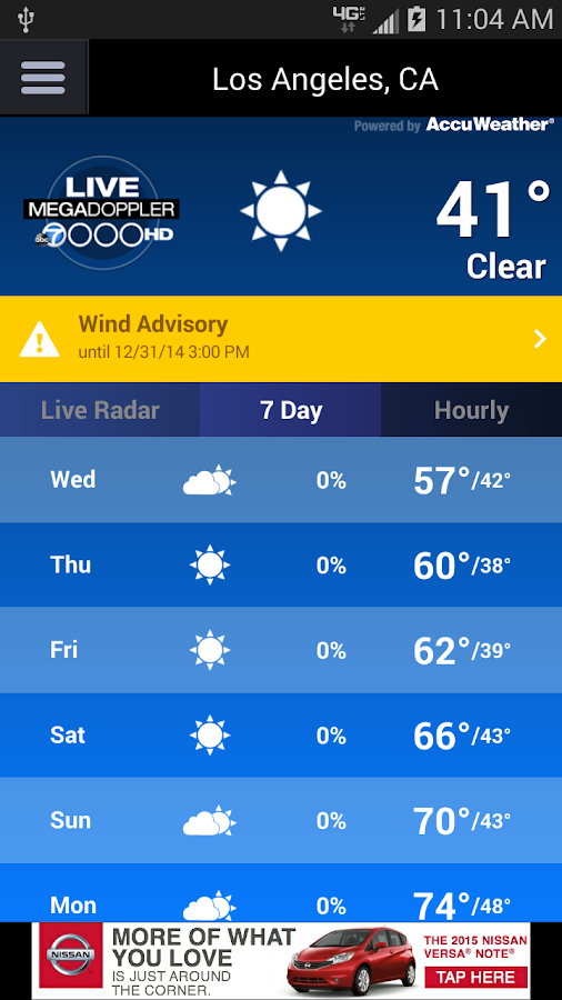 MEGADOPPLER – ABC7 LA WEATHER - screenshot