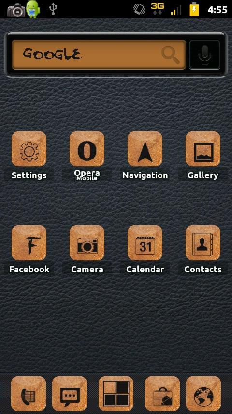 Burnt Leather ADW Theme - screenshot