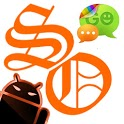GOSMS SunsetOrange Theme -Free icon
