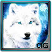 White Wolf with Snowflakes LWP