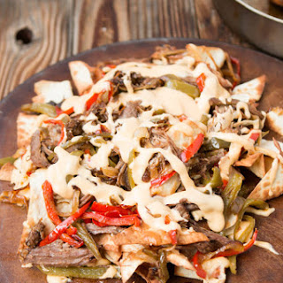 Philly Cheese Steak Nachos.