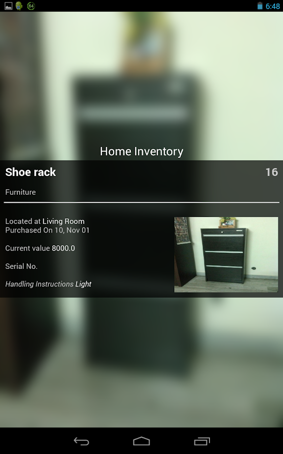Playcolors home inventory - screenshot