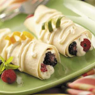 Breakfast Crepes with Berries.