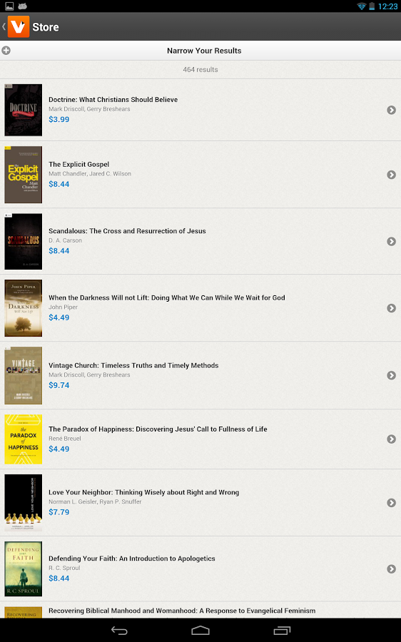 Vyrso: Christian Ebooks- screenshot