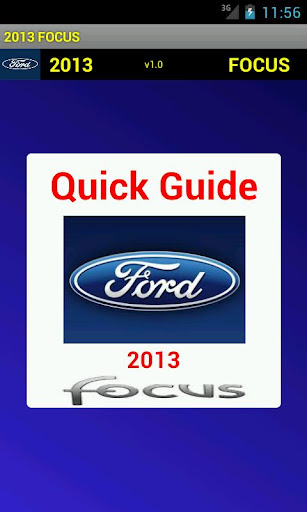Quick Guide 2013 Ford Focus