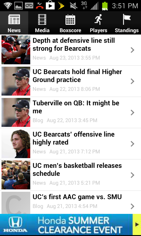 Cincinnati.Com Bearcats - screenshot