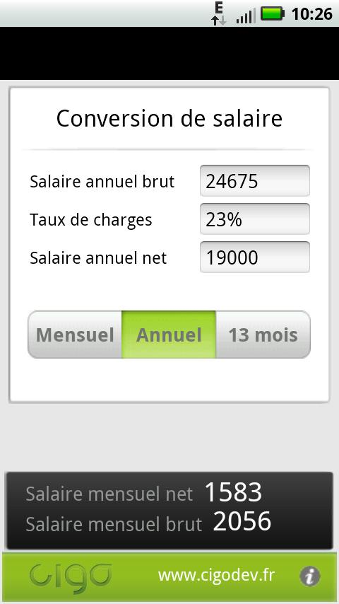 Salaire BrutNet- screenshot
