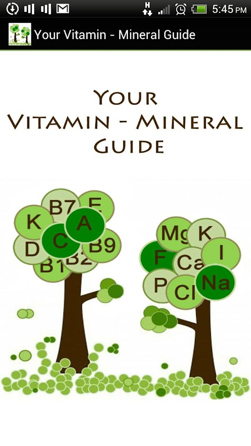 Your Vitamin - Mineral Guide- screenshot