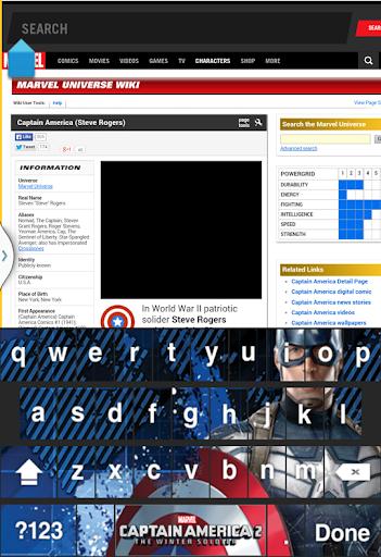 Captain America: TWS Keyboard