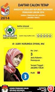 Caleg DKI 1 Pemilu 2014- screenshot thumbnail