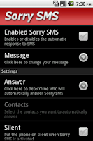 Screenshot of Sorry SMS
