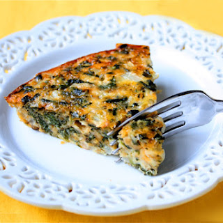 Crustless Spinach Quiche.
