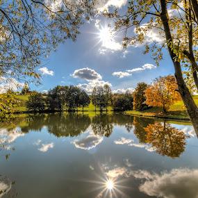 Lake in Kalchreuth by Alexander Kulla - Landscapes Waterscapes ( franken, kalchreuth, mittelfranken, gemeinde, erlangen-höchstadt,  )