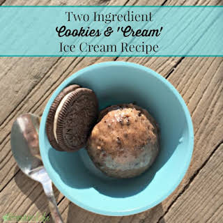 Homemade Oreo Cookies & Cream 'Ice Cream'.