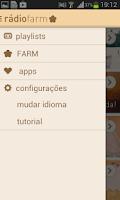 Screenshot of Rádio Farm