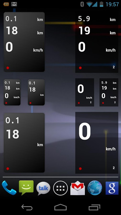 Drivers Widget - Speedometer - screenshot