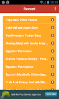 Screenshot of Recipe Folder
