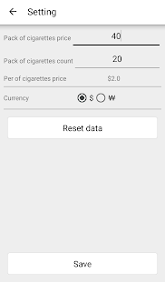 Cigarette calculator- screenshot thumbnail
