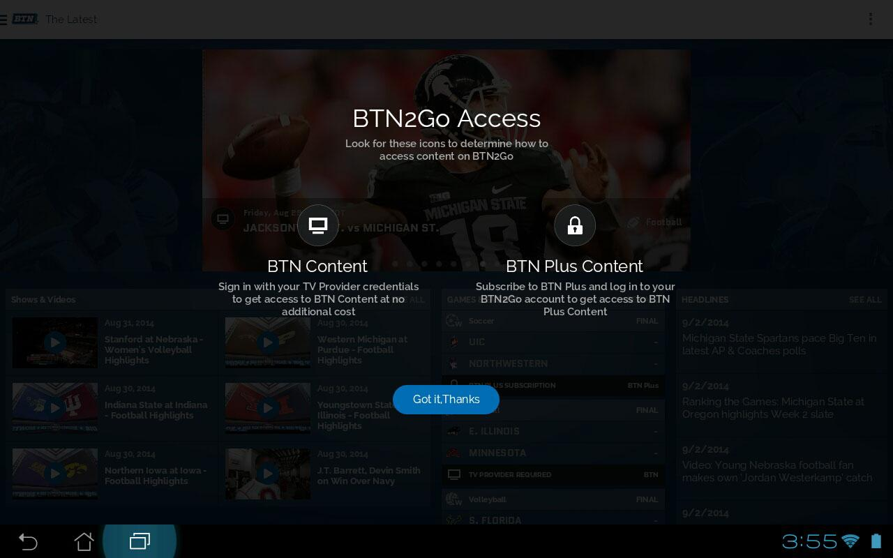 BTN2Go- screenshot