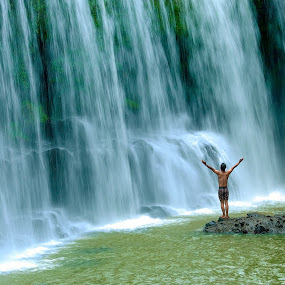 Feel freedom by San Djo - Landscapes Waterscapes ( sandjo, indonesia, waterfall, temam, linggau, Free, Freedom, Inspire, Inspiring, Inspirational, Emotion )