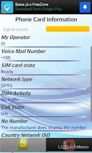 SIM Card Info, IMEI and Phones- screenshot thumbnail